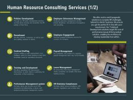 Human Resource Consulting Services Ppt Powerpoint Presentation Diagrams