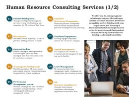 Human Resource Consulting Services Ppt Powerpoint Presentation Infographic