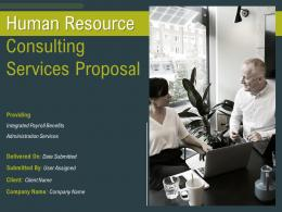 Human Resource Consulting Services Proposal Powerpoint Presentation Slides
