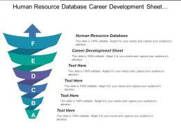 Human Resource Database Career Development Sheet Materials Database