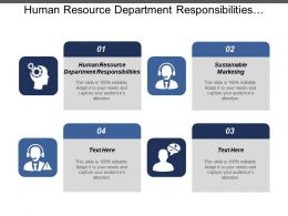 Human Resource Department Responsibilities Sustainable Marketing Employee Productivity