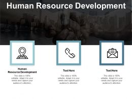 Human Resource Development Ppt Powerpoint Presentation Icon Structure Cpb