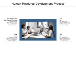Human Resource Development Process Ppt Powerpoint Presentation Gallery Files Cpb