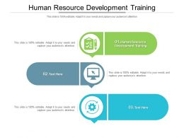 Human Resource Development Training Ppt Powerpoint Presentation Layouts Picture Cpb