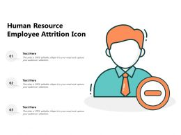 Human Resource Employee Attrition Icon