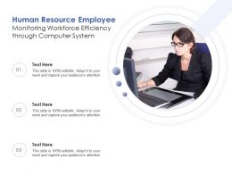 Human Resource Employee Monitoring Workforce Efficiency Through Computer System