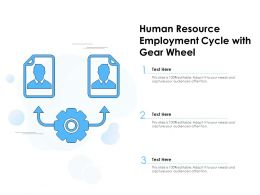 Human Resource Employment Cycle With Gear Wheel