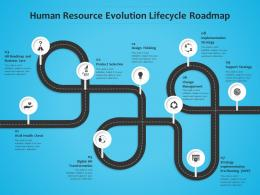 Human Resource Evolution Lifecycle Roadmap Timeline Powerpoint Template