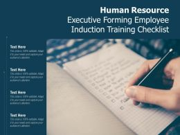 Human Resource Executive Forming Employee Induction Training Checklist