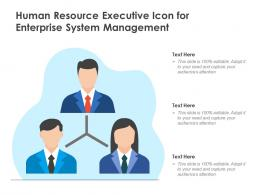 Human Resource Executive Icon For Enterprise System Management