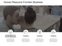 Human Resource Function Business Ppt Powerpoint Presentation Pictures Guidelines Cpb