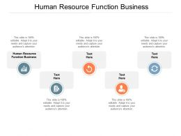 Human Resource Function Business Ppt Powerpoint Presentation Styles Slides Cpb