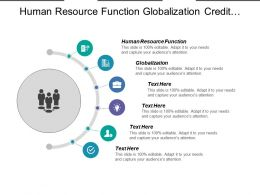 Human Resource Function Globalization Credit Management Network Management Platform Cpb