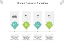 Human Resource Functions Ppt Powerpoint Presentation Infographics Gallery Cpb
