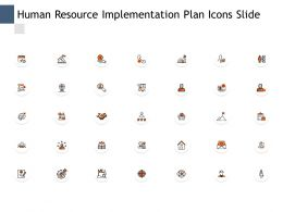 Human Resource Implementation Plan Icons Slide Checklist Management C640 Ppt Powerpoint Presentation