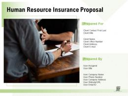 Human Resource Insurance Proposal Powerpoint Presentation Slides