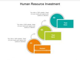 Human Resource Investment Ppt Powerpoint Presentation File Example Cpb