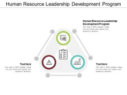 Human Resource Leadership Development Program Ppt Powerpoint Presentation Portfolio Portrait Cpb