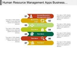 Human Resource Management Apps Business Logo Employees Satisfaction