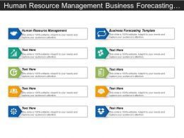 Human Resource Management Business Forecasting Template Outbound Marketing Cpb
