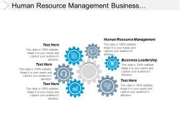 Human Resource Management Business Leadership Customer Management Relationship Cpb
