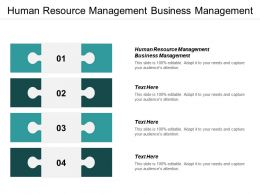 Human Resource Management Business Management Ppt Powerpoint Presentation Icon Good Cpb