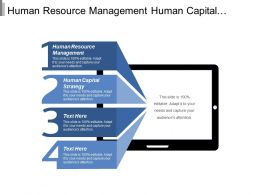 Human Resource Management Human Capital Strategy Executive Development Cpb