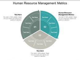 Human Resource Management Metrics Ppt Powerpoint Presentation Infographics Maker Cpb