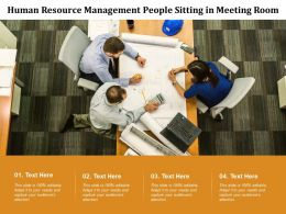 Human Resource Management People Sitting In Meeting Room