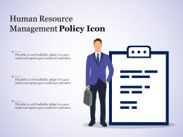 Human Resource Management Policy Icon