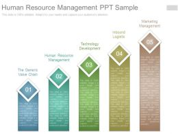 Human Resource Management Ppt Sample