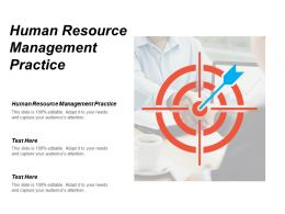Human Resource Management Practice Ppt Powerpoint Presentation Gallery Influencers Cpb
