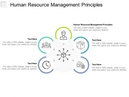 Human Resource Management Principles Ppt Powerpoint Presentation Infographic Template Icon Cpb