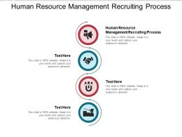 Human Resource Management Recruiting Process Ppt Powerpoint Templates Cpb