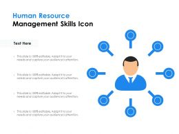 Human Resource Management Skills Icon