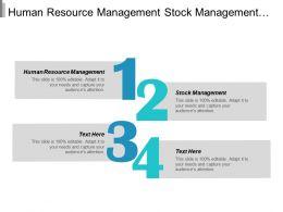 Human Resource Management Stock Management Marketing Plan Network Marketing Cpb