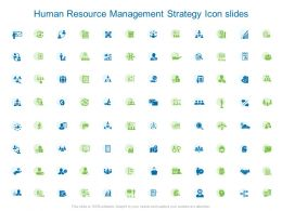 Human Resource Management Strategy Icon Slides Gear L903 Ppt Images