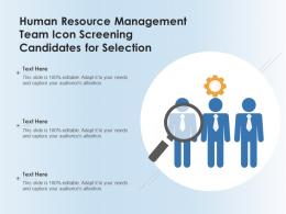 Human Resource Management Team Icon Screening Candidates For Selection