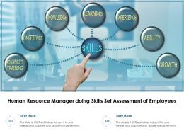 Human Resource Manager Doing Skills Set Assessment Of Employees
