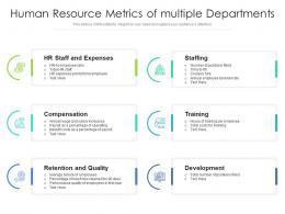 Human Resource Metrics Of Multiple Departments