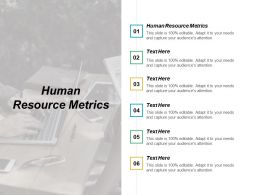 Human Resource Metrics Ppt Powerpoint Presentation Model Elements Cpb