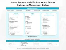 Human Resource Model For Internal And External Environment Management Strategy