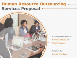 Human Resource Outsourcing Services Proposal Powerpoint Presentation Slides
