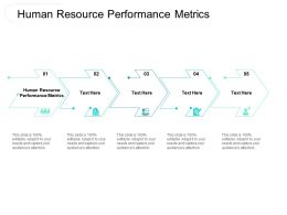 Human Resource Performance Metrics Ppt Powerpoint Presentation Styles Aids Cpb