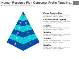 Human Resource Plan Consumer Profile Targeting Strategic Planning Marketing Cpb