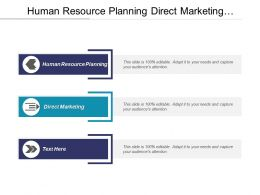 Human Resource Planning Direct Marketing Business Contingency Planning Cpb