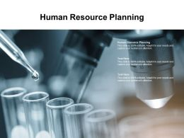 Human Resource Planning Ppt Powerpoint Presentation Summary Themes Cpb