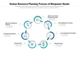 Human Resource Planning Process Of Manpower Needs