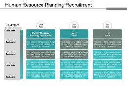 Human Resource Planning Recruitment Ppt Powerpoint Presentation Styles Guidelines Cpb