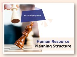 Human Resource Planning Structure Powerpoint Presentation Slides